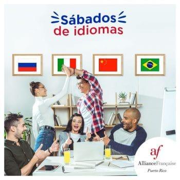 Cursos de idiomas en L'alliance Francaise constan de catalán, portugués, mandarín, ruso, árabe, japonés y lenguaje de señas.