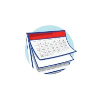 Los calendarios de cursos de francés y exámenes de L'alliance Francaise de Puerto Rico.