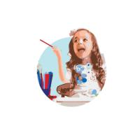 Botón del Programa de Verano para niños y adolescentes en francés