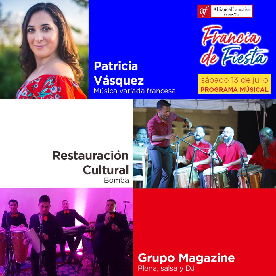 El programa musical de nuestra celebración franco-puertorriqueña