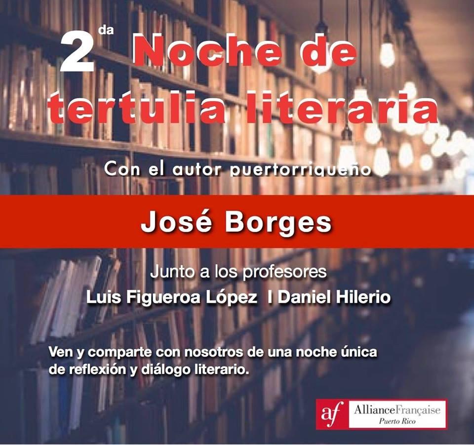 Con el autor puertorriqueño José Borges