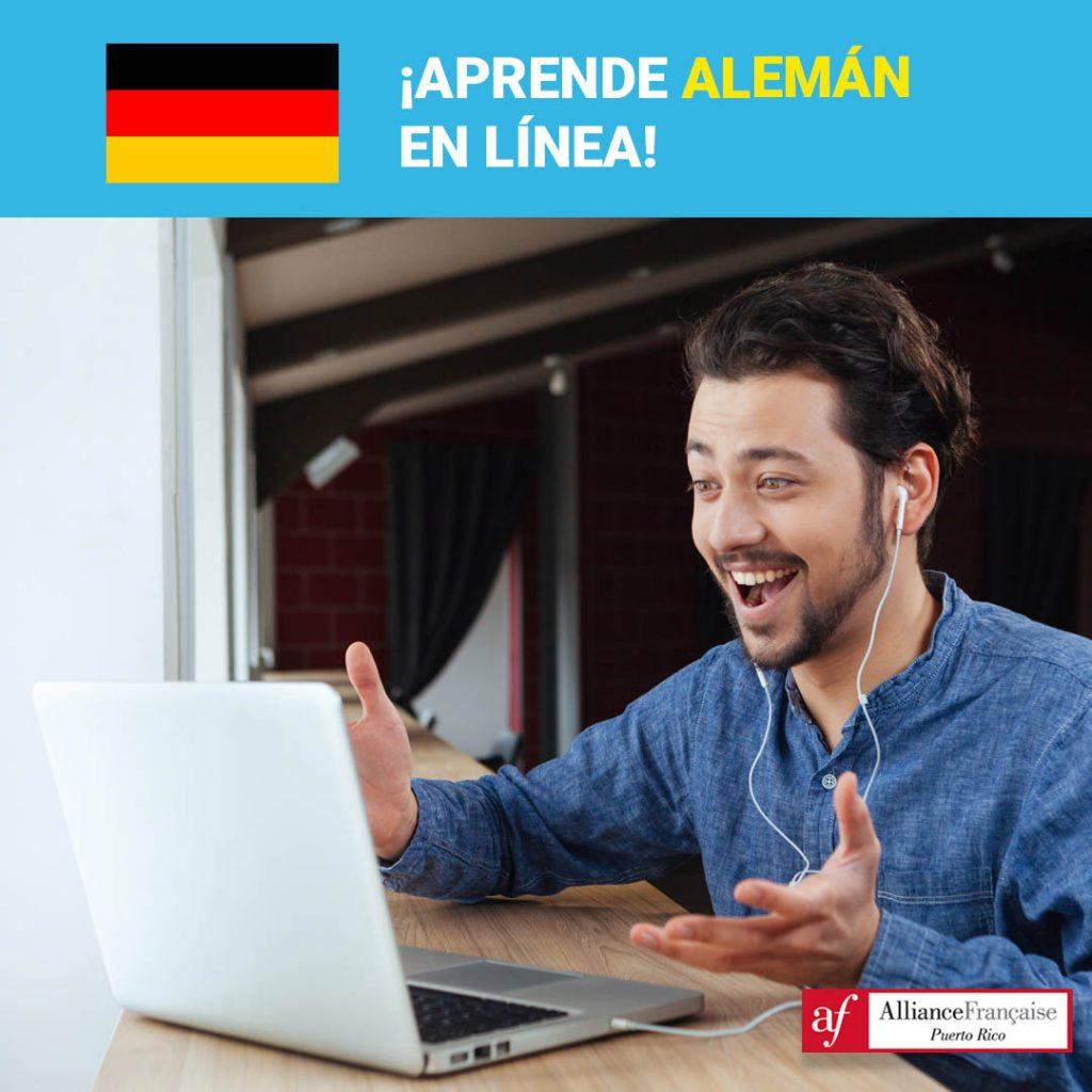 La Alliance Francaise de Puerto Rico ofrece cursos de alemán online.