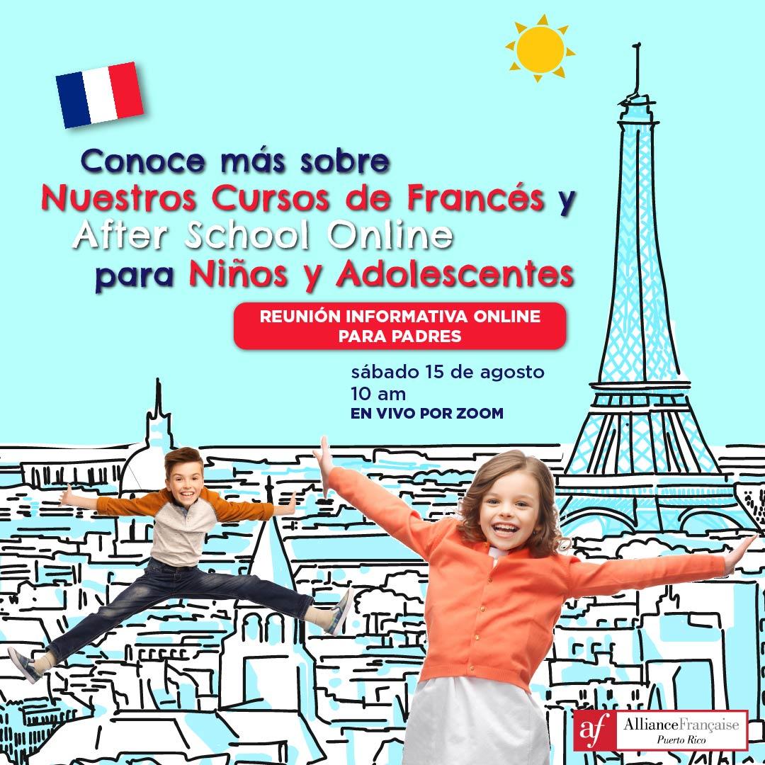 Reunión informativa online para padres - 15 de agosto - Alliance Francaise Puerto Rico