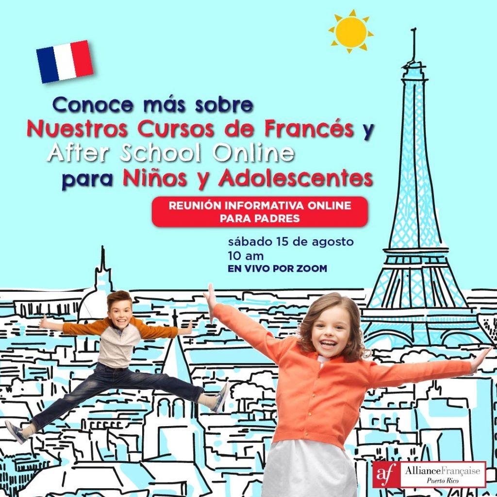 Reunión informativa online para padres - Alliance Francaise Puerto Rico