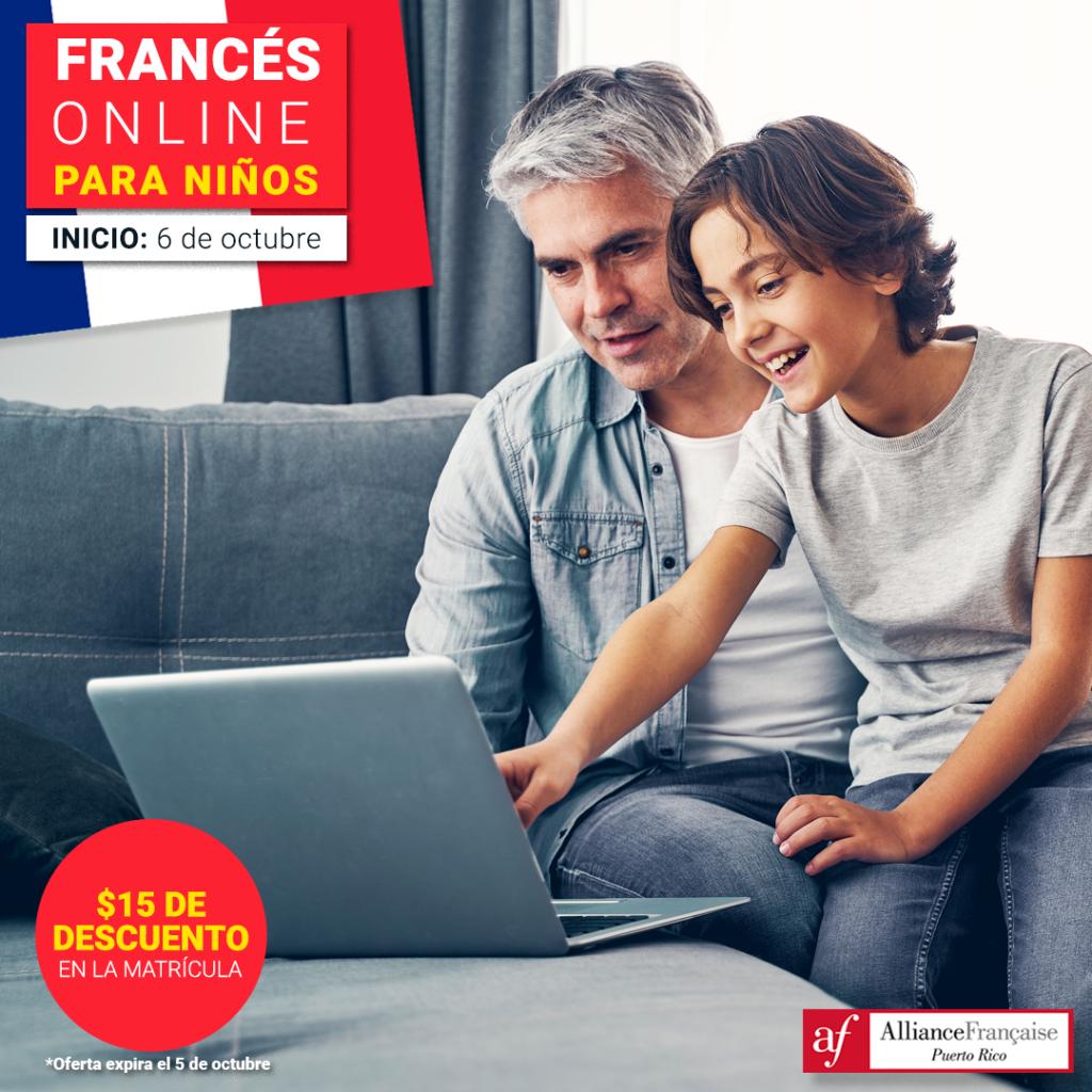 La Alliance Française de Puerto Rico ofrece cursos de francés online para niños.