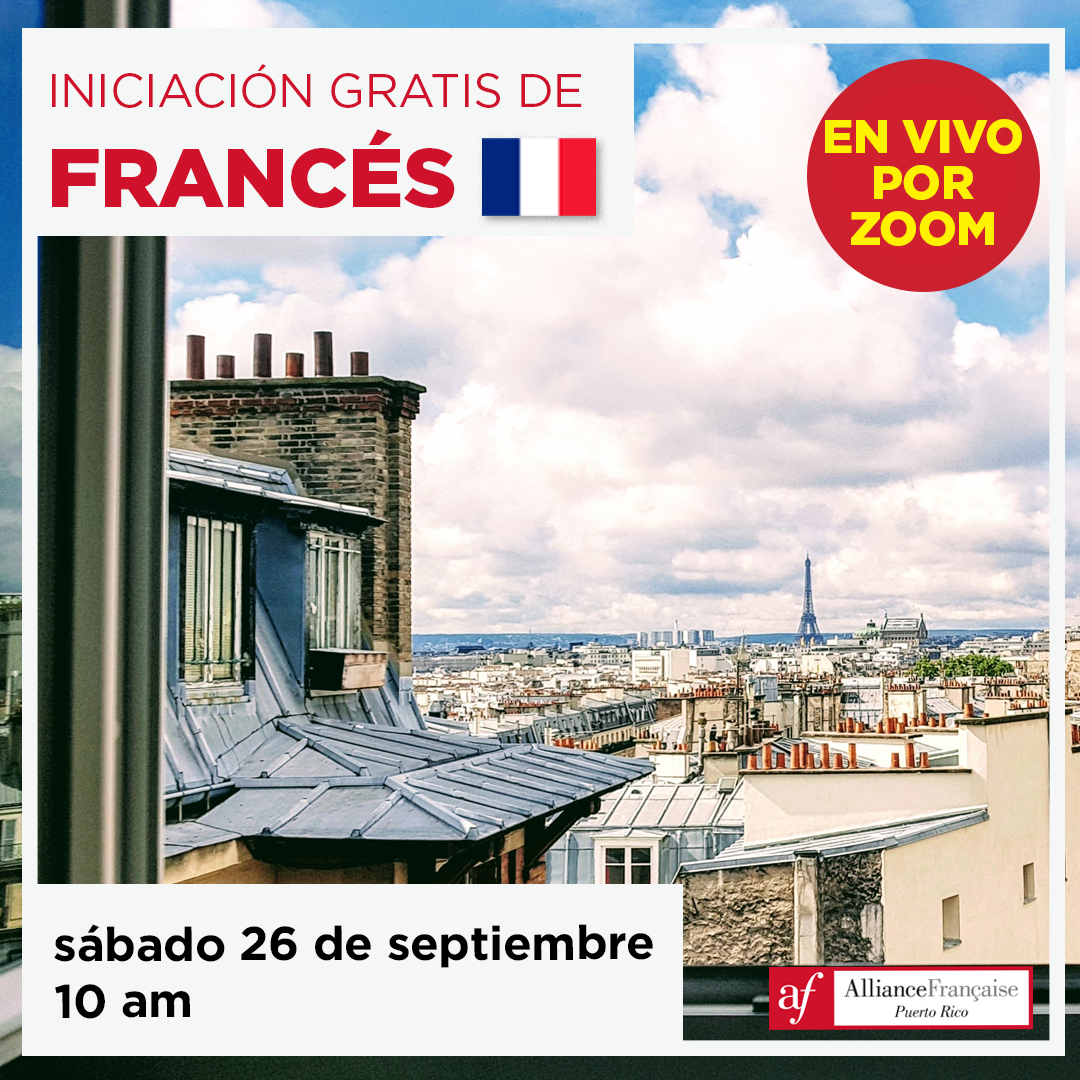 Iniciación gratis de francés - 26 de septiembre de 2020 - en vivo por Zoom