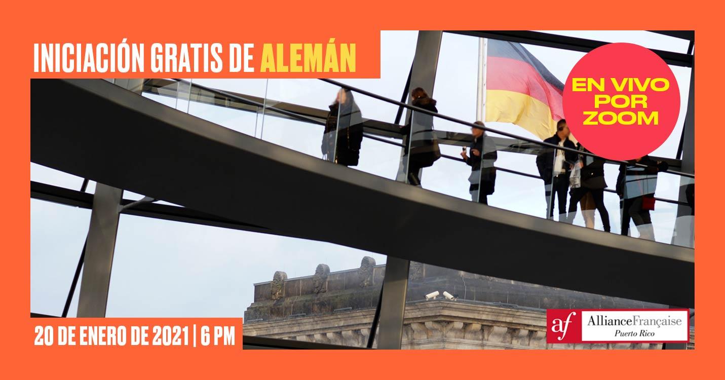 Iniciación Gratis de Alemán - Alliance Francaise Puerto Rico - 20 de enero de 2021