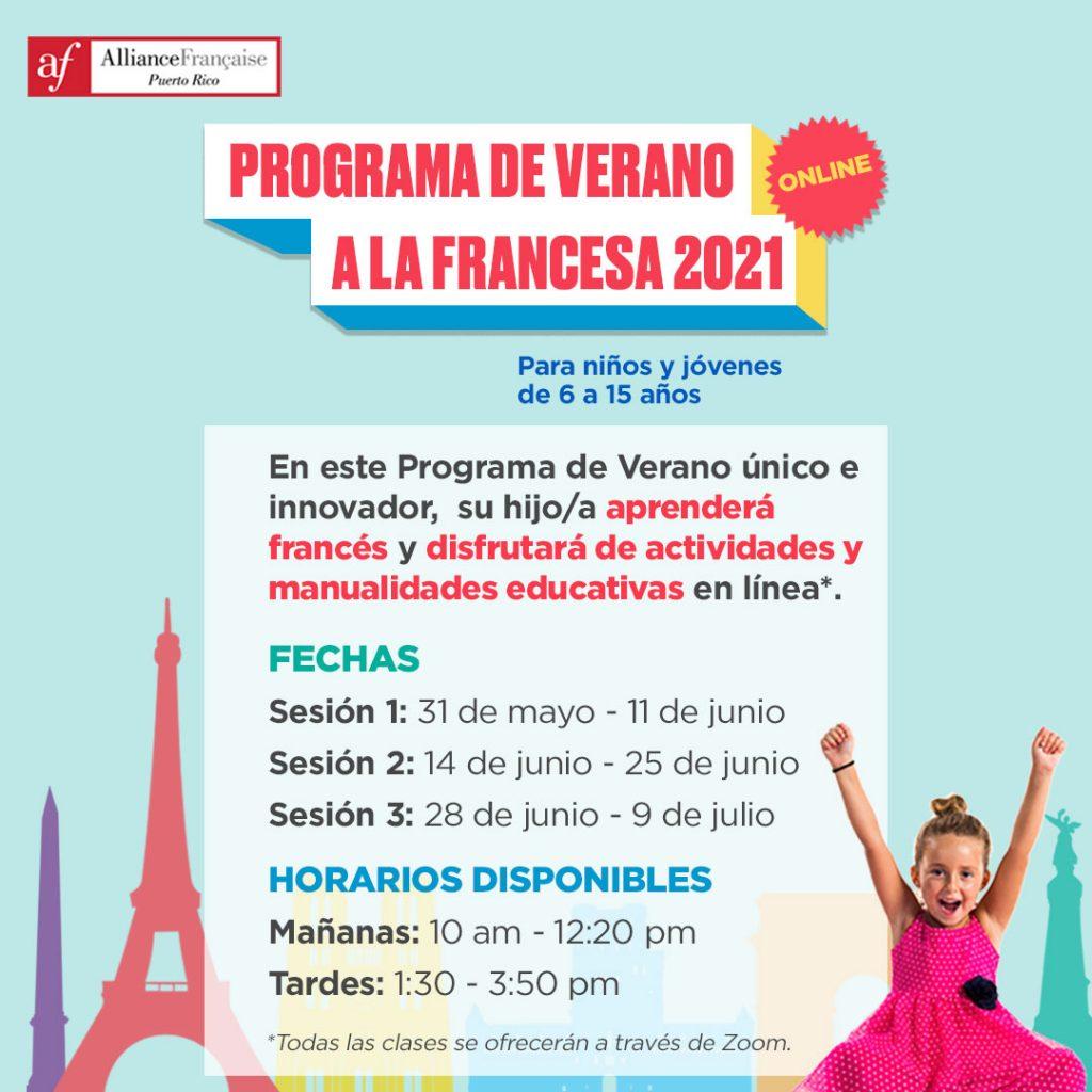 Programa de Verano a la Francesa Online - junio - julio 2020