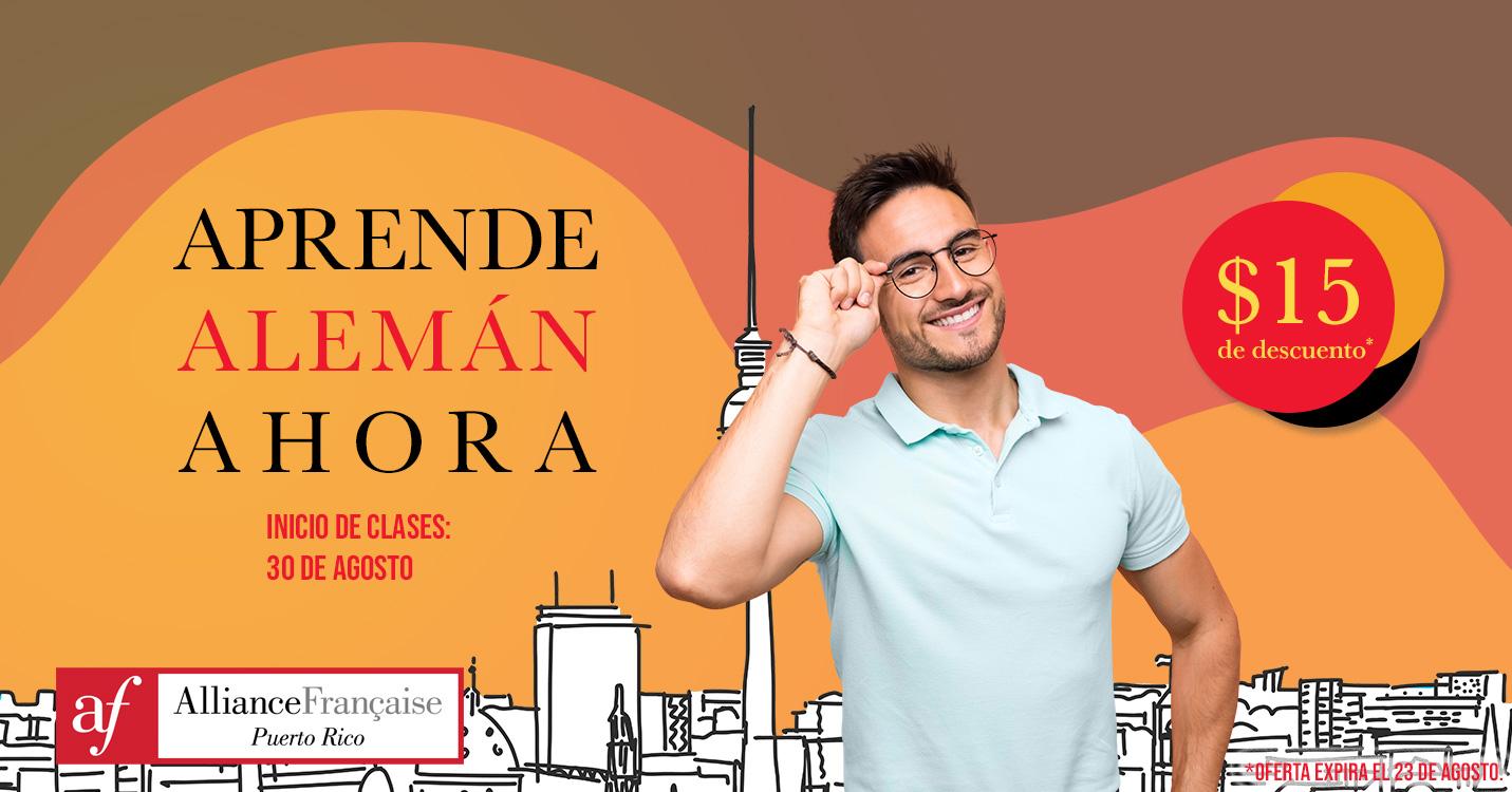 La Alliance Francaise de Puerto Rico ofrece clases de aleman para adultos.