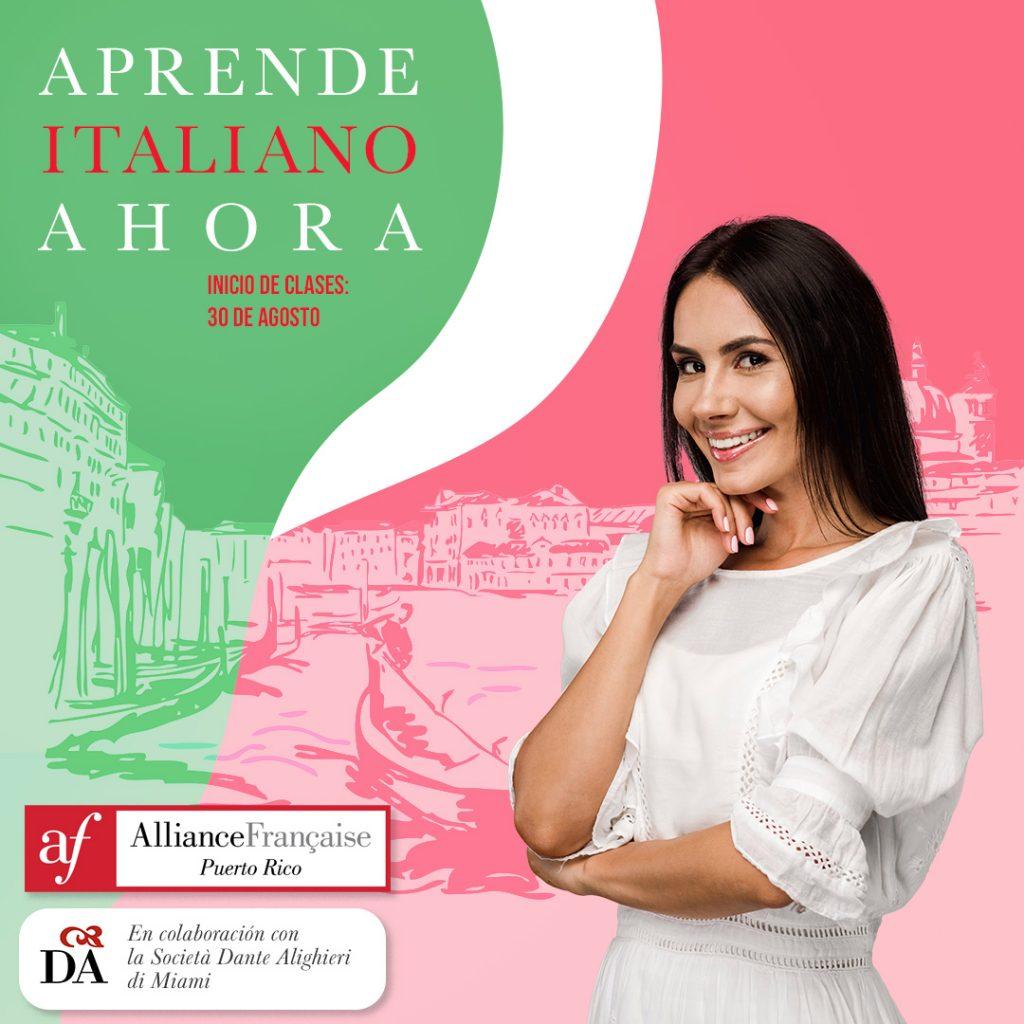La Alliance Francaise de Puerto Rico ofrece cursos de italiano online para adultos, adolescentes y niños.